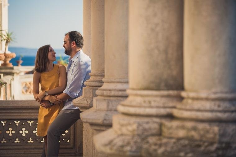 Chiara e Giacomo Servizio Fotografico Fidanzati Castello di Miramare
