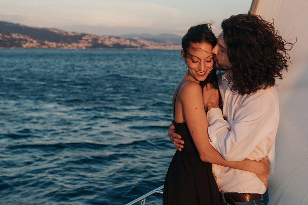 Servizio Fotografico Fidanzati Barca a Vela Trieste