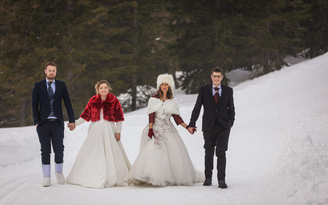 Trash the Dress sulla Neve