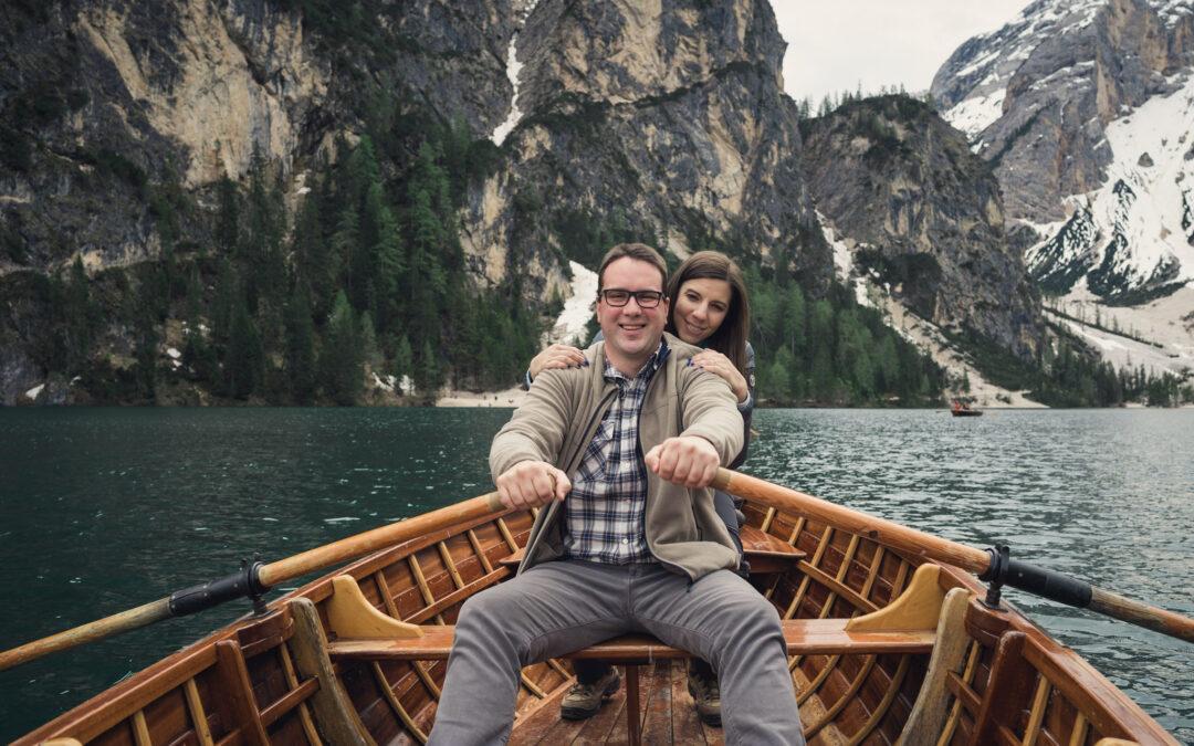 M+M – Foto di coppia sul lago di Braies