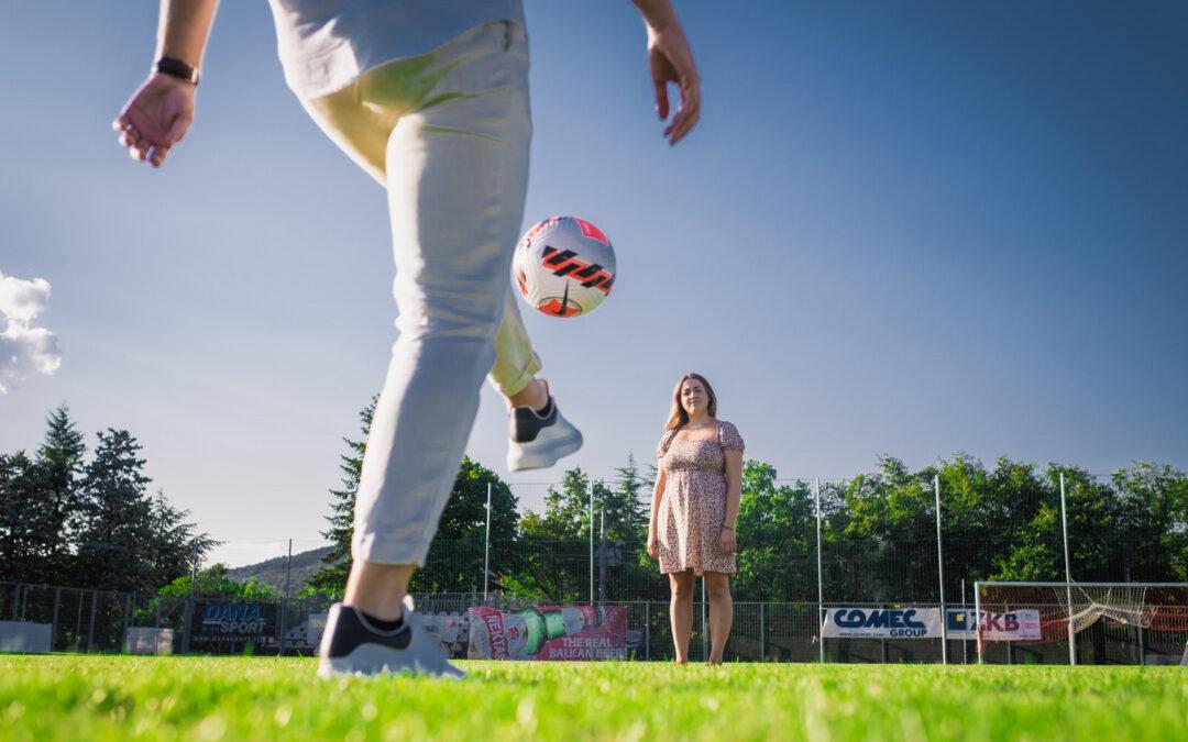 F+M – Servizio fidanzati in campo di calcio