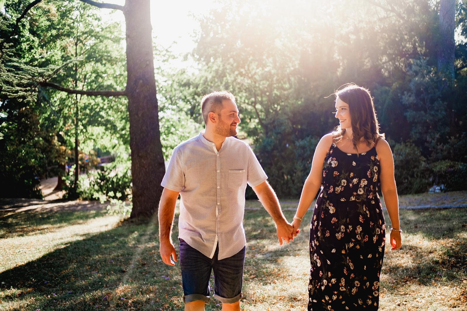 foto coppia in parco